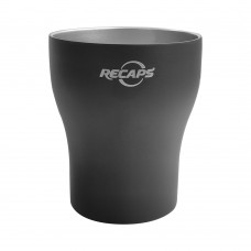 RECAPS 200ml 304 Stainless Steel Coffee Cups Set Black Color - 2 Pack Double Wall Stainless Steel Demitasse Cups