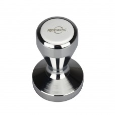 Espresso Tamper 51mm Solid Iron with Chrome Plated Base | Modern Professional Barista| Espresso Coffee Tamper Flat Base Silver