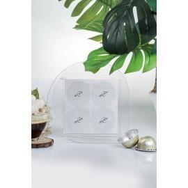 RECAPS Storage Holder Kitchen Organizer Plexiglass Holds Different Sizes of Aluminum Espresso Lids Foil Seals or Different brands of Coffee Pods