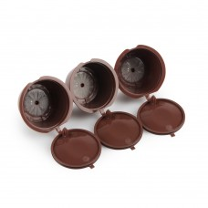 Refillable Coffee Capsules Refilling More Than 30-50 Times Reusable Coffee Pods for Nescafe Dolce Gusto Brewers Brown