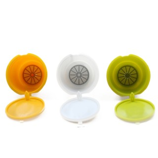 Refillable Coffee Capsules Refilling More Than 30-50 Times Reusable Coffee Pods for Nescafe Dolce Gusto Brewers Three Colors
