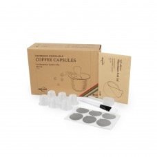 Espresso Disposable Coffee Caspules Pods Compatible with Nespresso Machines Fillable Espresso Coffee or Tea 120 Pcs White 1x Plastic Spoon and 1x Brush