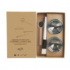 RECAPS Stainless Steel Refillable Capsules Reusable Pods Compatible with Nespresso Vertuoline Machine
