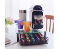 RECAPS Coffee Pods Storage Holder Drawer Kitchen Organizer Compatible with Nespresso Tempered Glass Holds Different Brands of Coffee Pods