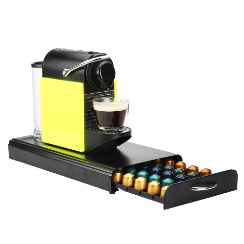 Coffee Pod Holder Storage Drawer Compatible With Nespresso Coffee Capsules  Kitchen Organizer Black Holds 50 Capsules ...