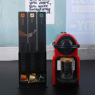 Coffee Capsule Pod Holder for Stores 30 Pods Compatible with Nespresso Capsules Cast Iron Black Color