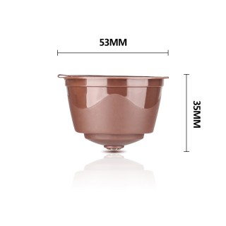 Update Version Rich Crema Refillable Coffee Capsules Refillable Reusable Coffee Pods for Nescafe Dolce Gusto Brewers Brown 3 PCS
