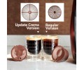 Update Version Rich Crema Refillable Coffee Capsules Refillable Reusable Coffee Pods for Nescafe Dolce Gusto Brewers Brown