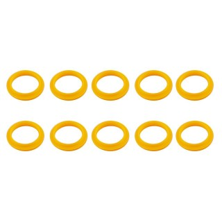 RECAPS 10PCS 20mm Silicone Replacement Ring Yellow Color Compatible with Nespresso Stainless Steel Plastic Refillable Reusable Capsule