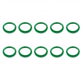RECAPS 10PCS 20mm Silicone Replacement Ring Green Color Compatible with Nespresso Stainless Steel Plastic Refillable Reusable Capsule