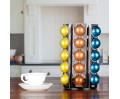 Coffee Capsules Pods Holder Carousel 360 Degree Revolving Compatible with Vertuoline Stores 60 Pods Cast Iron Black Color