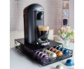 RECAPS Coffee Pod Holder Drawer Storage Coffee Capsules Kitchen Organizer Compatible with Vertuoline Stores 40 Capsules Black Color